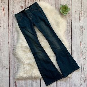 Free People Pull On Flared Jegging Jeans Sz 24